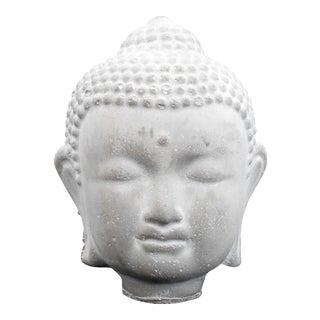 Asian Antique Buddha Head Cement Figurine For Sale