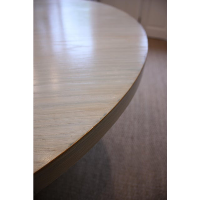 Strieed Sea Foam Green Dining Table With Gold Edge For Sale In Los Angeles - Image 6 of 10