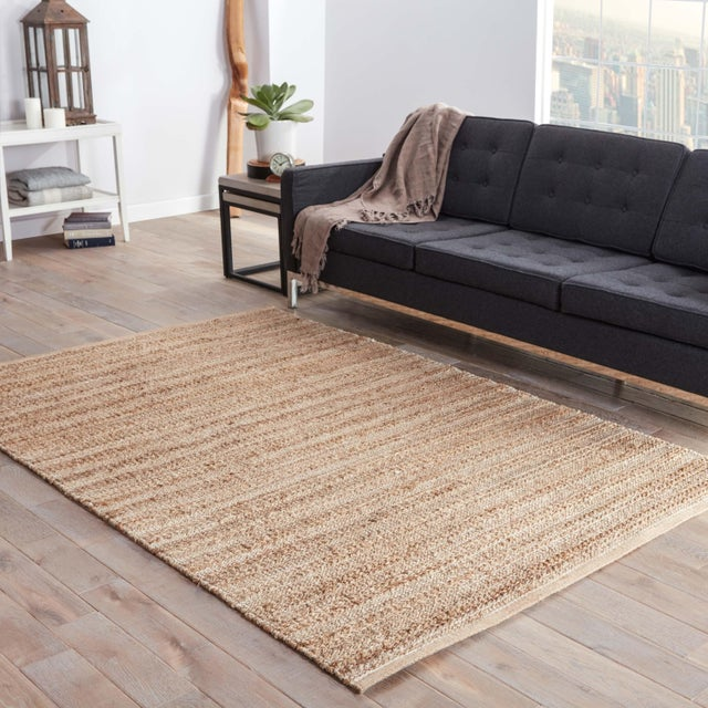 2010s Jaipur Living Canterbury Natural Solid Tan/ White Area Rug - 9′6″ × 13′6″ For Sale - Image 5 of 6