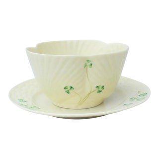 Belleek Irish Serving Bowl and Plate - a Pair For Sale