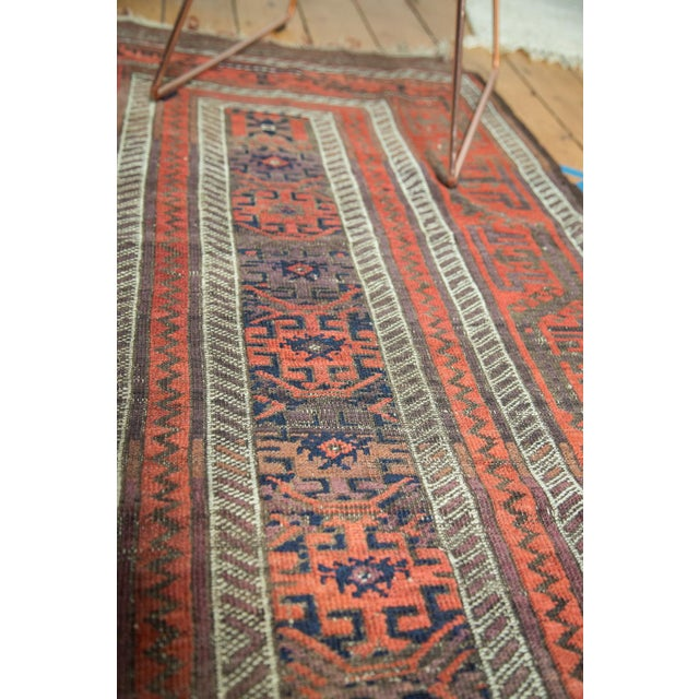 "Antique Belouch Rug Runner - 3' x 5'8"" For Sale - Image 9 of 9"