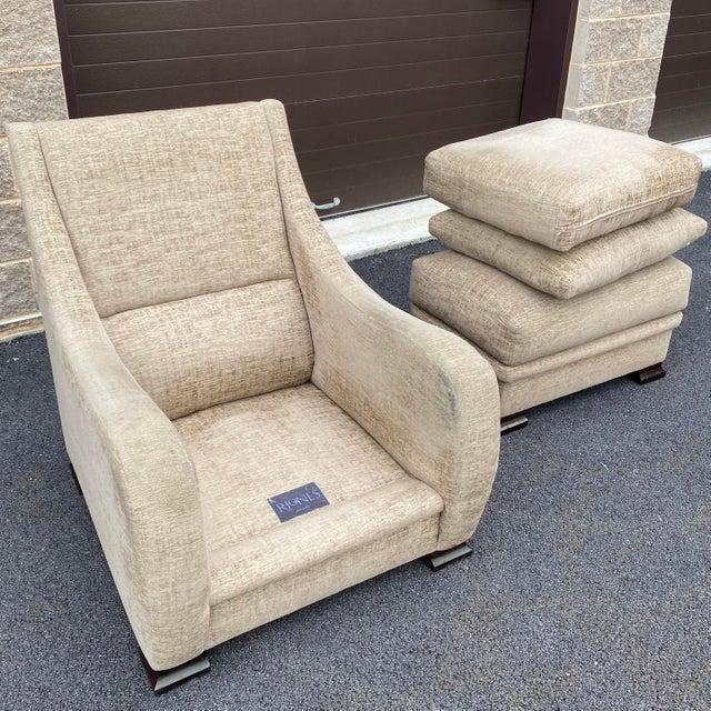 RJones Lounge Chair & Ottoman For Sale In Philadelphia - Image 6 of 13