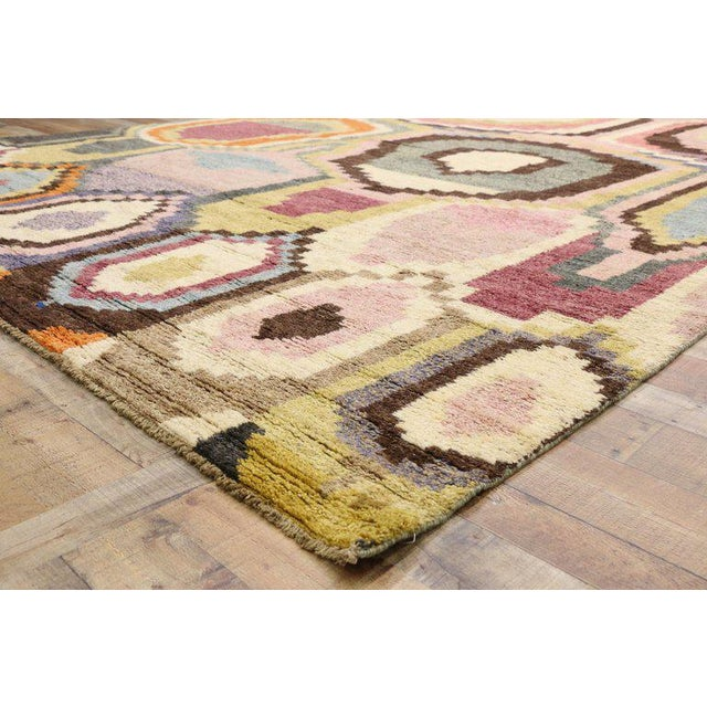Early 21st Century New Contemporary Moroccan Postmodern Style Rug - 10′3″ × 13′11″ For Sale - Image 5 of 9