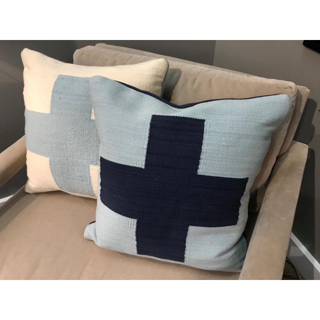 Classic Adler wool pillows - reversible and chic. Great used condition - cleaned and ready to stylize any room.