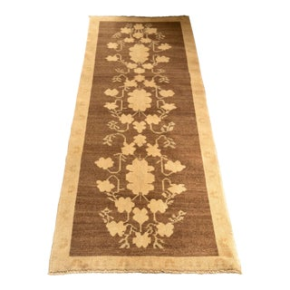 'Hugette' Vintage Turkish Modern Heirloom Runner Rug - 2′8″ × 6′11″ For Sale