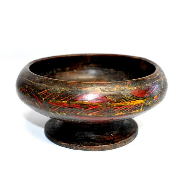 Antique Tibetan Wheat Motif Wooden Bowl For Sale - Image 13 of 13