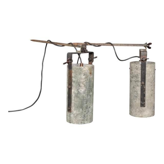 Concrete Outdoor Wall Lamps, Switzerland 1950s For Sale