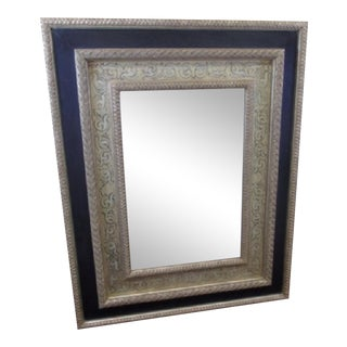John Richards Oversized Carved Wood Mirror For Sale