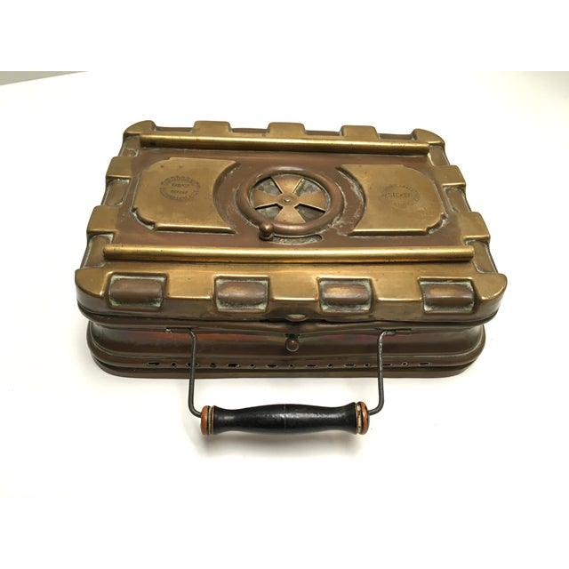 Late 1800s French Carriage Brass Foot Warmer - Image 7 of 8