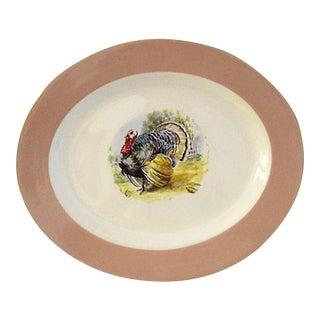 Mid-Century Tom Turkey Platter For Sale