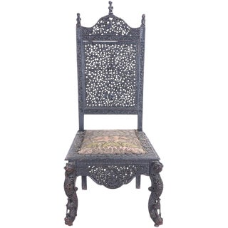 Ceremonial Carved Chair For Sale