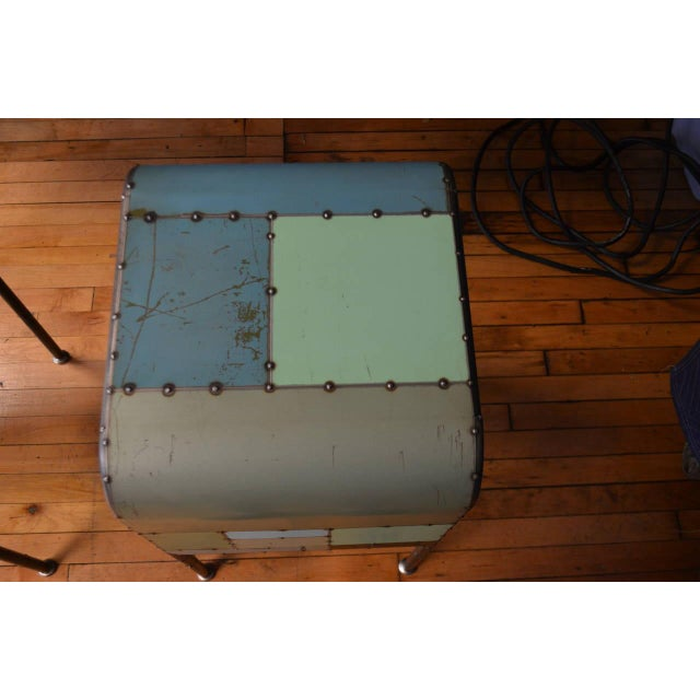 Locally-Sourced Reclaimed Steel Bedside Table - Image 9 of 10