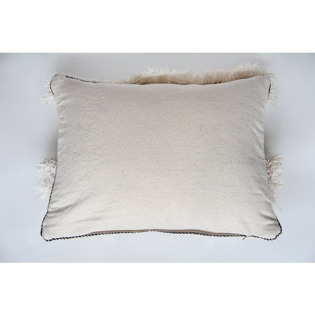 Vintage Moroccan Wedding Handira Pillow For Sale In New York - Image 6 of 6
