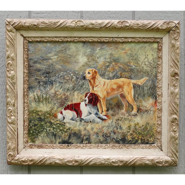 The Dogs' English School Oil Painting, Signed & Dated For Sale - Image 4 of 6
