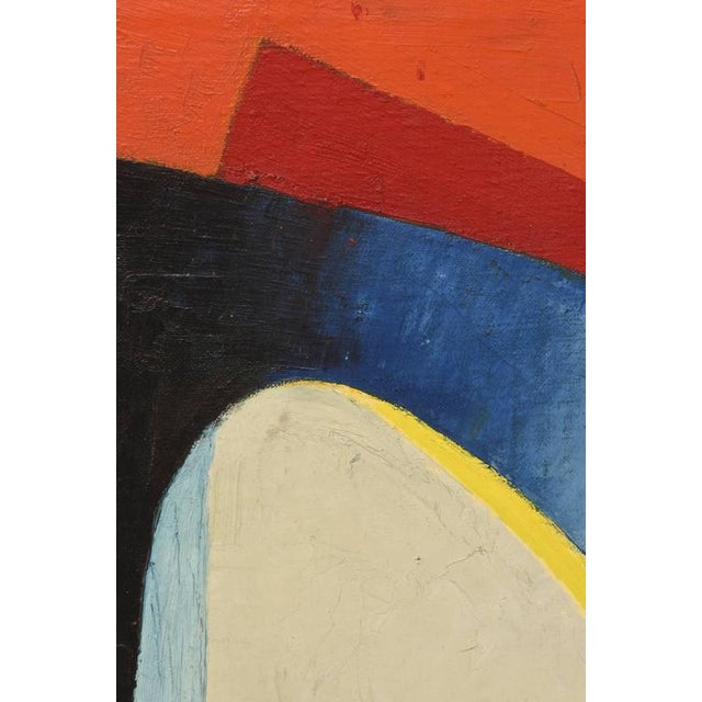 Signed Philip Perkins Vintage Cubist Painting - Image 5 of 9