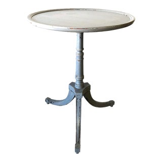 Vintage Swedish Country Neoclassical Pedestal Table For Sale