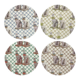 Regal Greyhound Coasters, Set of 4 For Sale