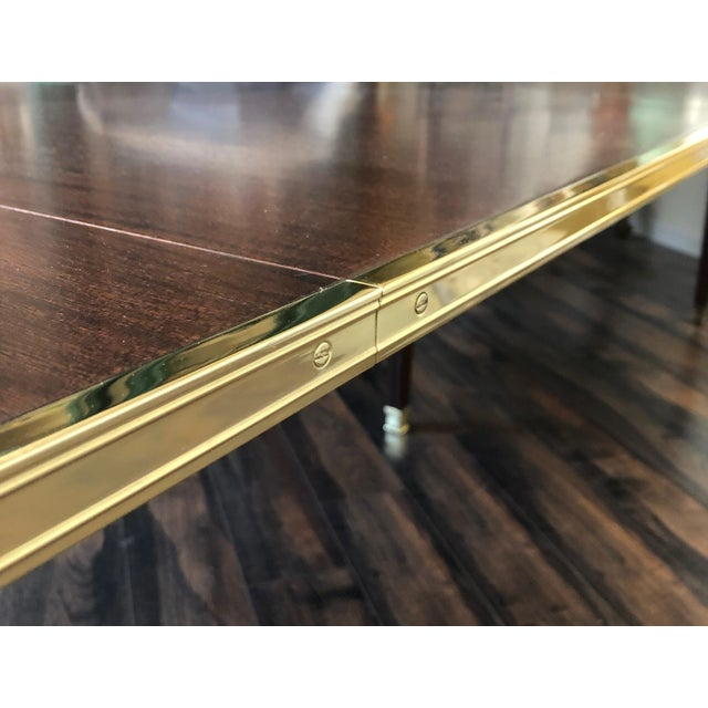 French Canabas Dining Table For Sale - Image 3 of 6