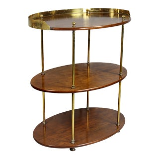 Victorian Campaign Mahogany and Brass Table For Sale