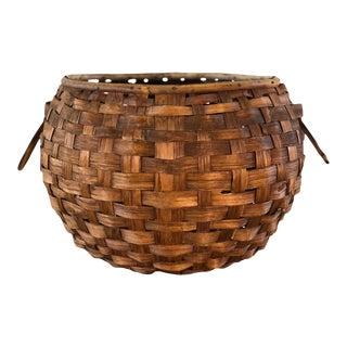 Vintage Round Italian Basket For Sale