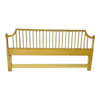 Hollywood Regency Faux Bamboo King Size Headboard For Sale