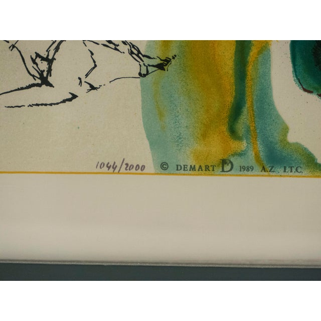 The Emerald of the Tablet Salvador Dali Silk Serigraphy 1989 - Edition of 2000 For Sale - Image 9 of 11