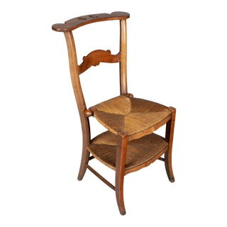 19th Century Country French Rush Seat Chair For Sale