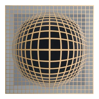 "Victor Vasarely, ""Series 4"", Op Art Screenprint For Sale"