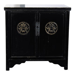 1950s Vintage Chinese Black Cabinet For Sale