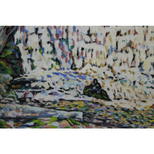 Mid 20th Century Vintage Mid-Century Ede Else Buttermilk Falls Painting For Sale - Image 5 of 7