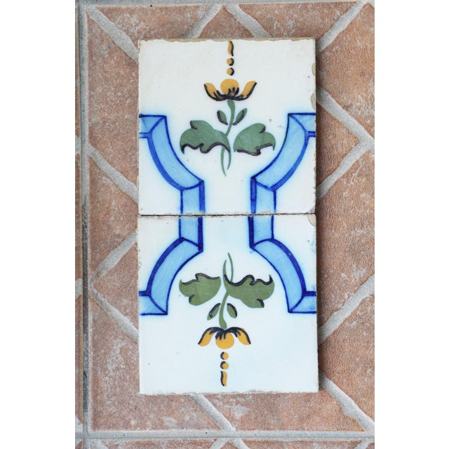 Antique White 20th Century Tin-Glazed Pottery Tiles - a Pair For Sale - Image 8 of 8