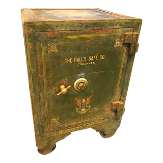 Early 20th Century Vintage Hall's Safe Company Storage For Sale