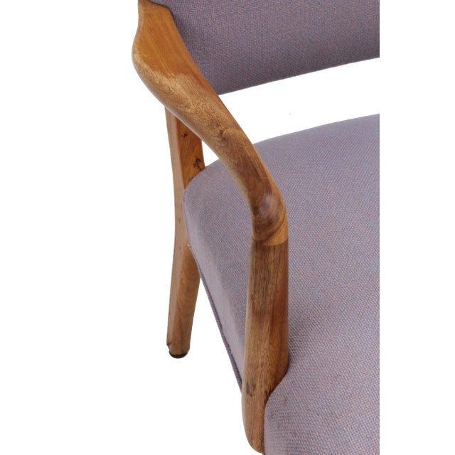 Mid-Century Sculpted Walnut Frame Armchair by Stow & Davis For Sale - Image 5 of 10