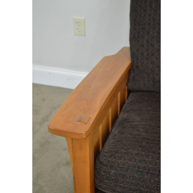 Stickley Mission Collection Solid Cherry Rocker For Sale - Image 12 of 13