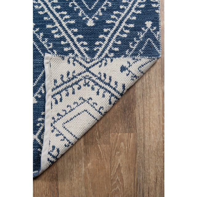 2010s Erin Gates by Momeni Easton Pleasant Navy Indoor/Outdoor Hand Woven Area Rug - 7′6″ × 9′6″ For Sale - Image 5 of 7