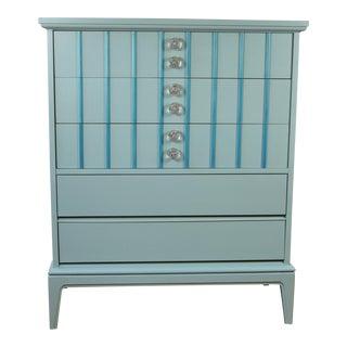 Mid-Century Modern Turquoise Dresser For Sale