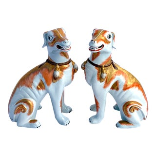 Paul Hanson Italy, Chinoiserie Dogs - a Pair For Sale