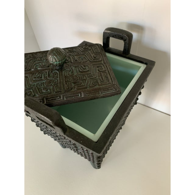Late 20th Century Vintage Taiwanese Metal Box on Legs For Sale - Image 5 of 7