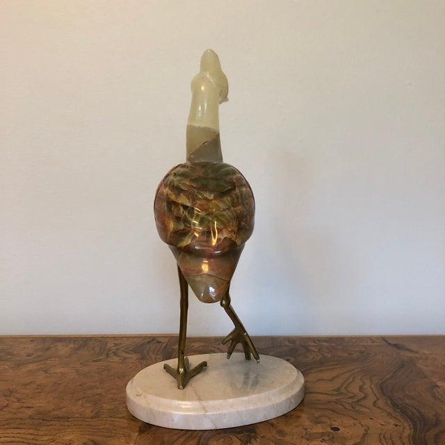 Semi-Precious Stone & Brass Crane Figure For Sale In Richmond - Image 6 of 8
