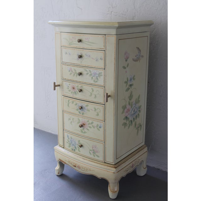 1950s Cottage Deluxe Tall Jewelry Chest For Sale In Miami - Image 6 of 10