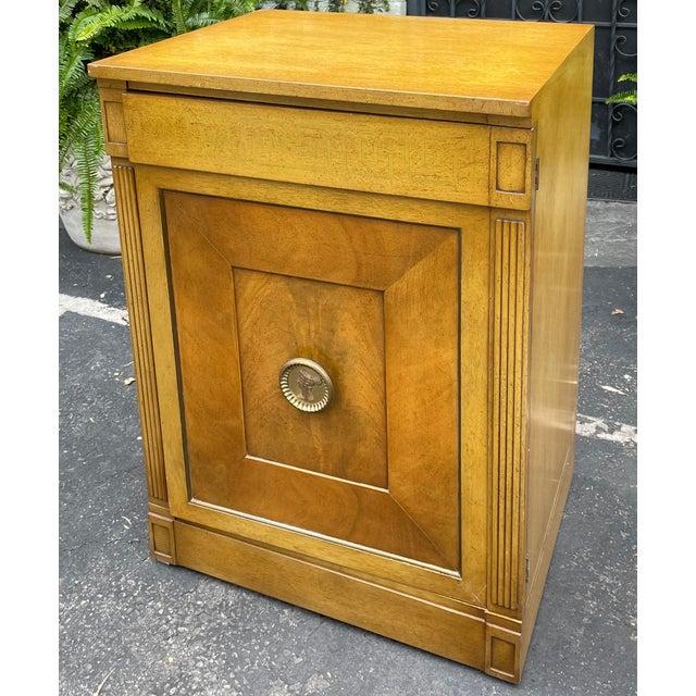 Grosfeld House Rare Grosfeld House Hollywood Regency Mid Century Modern Empire Low Secretary Desk Cabinet For Sale - Image 4 of 6