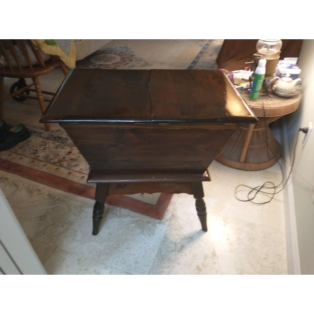 Wood Vintage Sugar Pine Dough Trough End Table For Sale - Image 7 of 7
