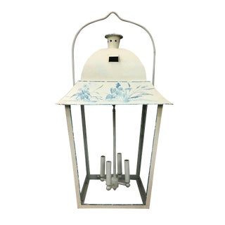 Vintage French Style Hand-Painted Lantern