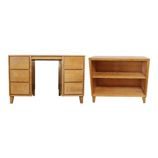 Russel Wright for Conant Ball Desk and Bookshelf Set