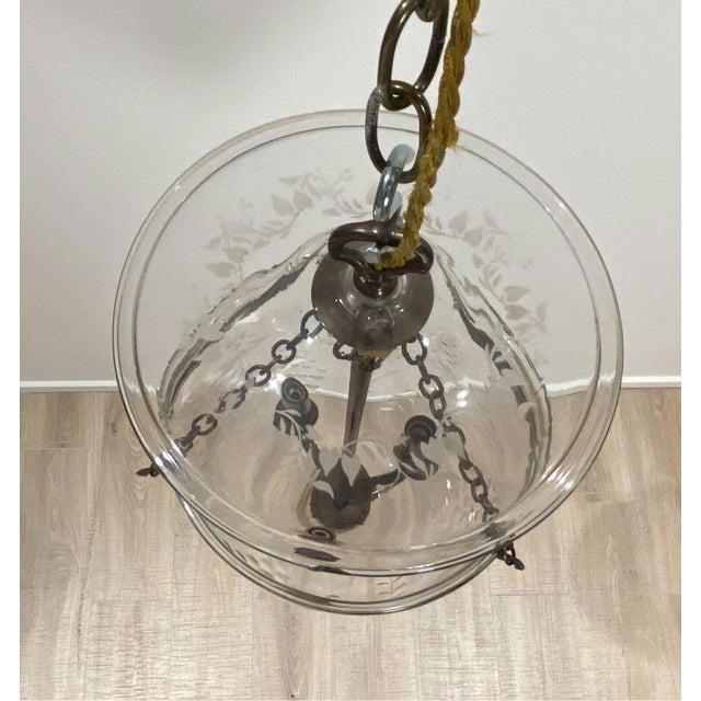 Vintage Bell Jar Lantern, Austria Circa 1960 For Sale - Image 4 of 5