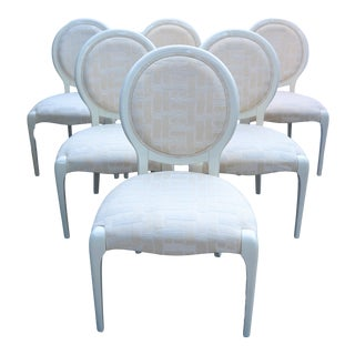 Tonon Italian Modernist Oval Back Lacquer Dining Chairs - Set of 6 For Sale