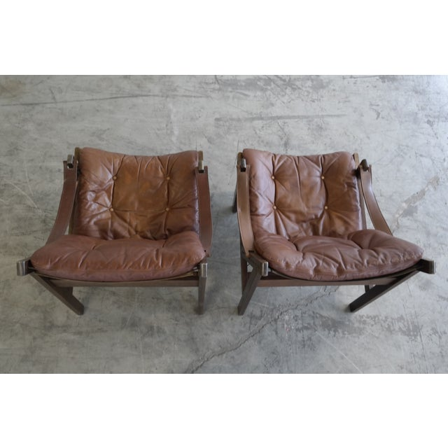 Torbjorn Afdal Mid Century Hunter Chairs - Pair For Sale - Image 5 of 10