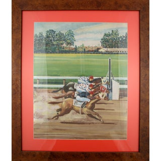 """Three Horse Photo Finish"" For Sale"