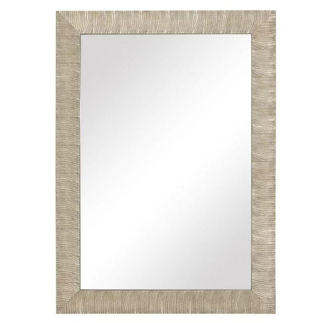 Silver Transitional Style Silver Leaf Wall Mirror For Sale - Image 8 of 8