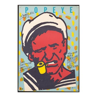 "Vintage Original 1984 Hungarian ""Popeye"" Movie Poster Robin Williams Robert Altman For Sale"